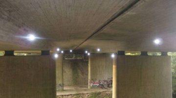 Tachymetrisches Monitoring einer Spannbetonbrücke der ALLSAT