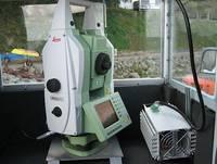 Das zum Einsatz gekommene Tachymeter bei der Hangsicherung auf Rügen.