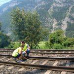 Installation für die Sicherung während der Gleisbauarbeiten