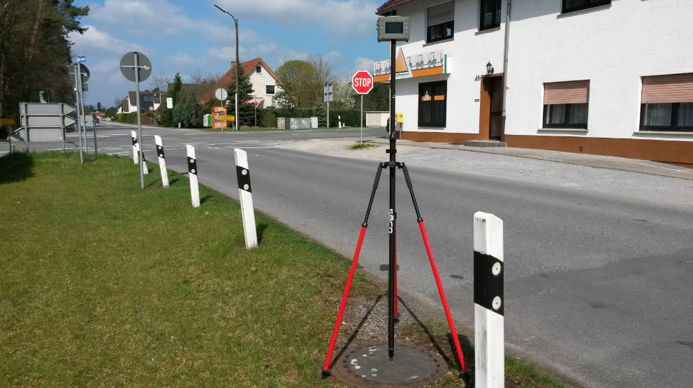 Vermessung von Passpunkten für Befliegungen mittels GNSS