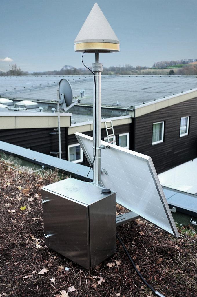 Beispielhafter Aufbau einer temporären GNSS-Station