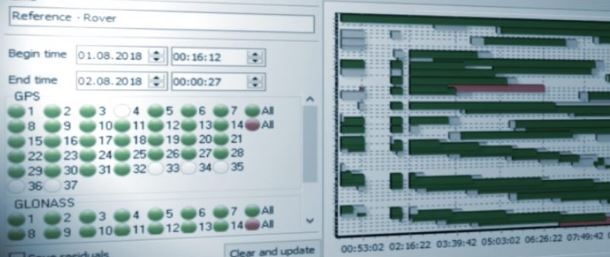GNSS-Postprocessing mit der Software Justin von JAVAD.