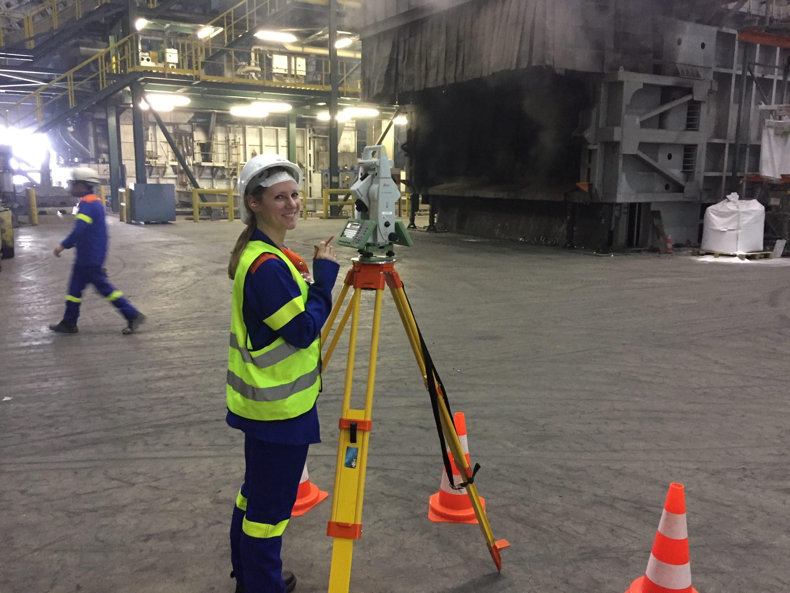 Präzise Positionierung  von 60 Tonnen schweren automatischen Fahrzeugen