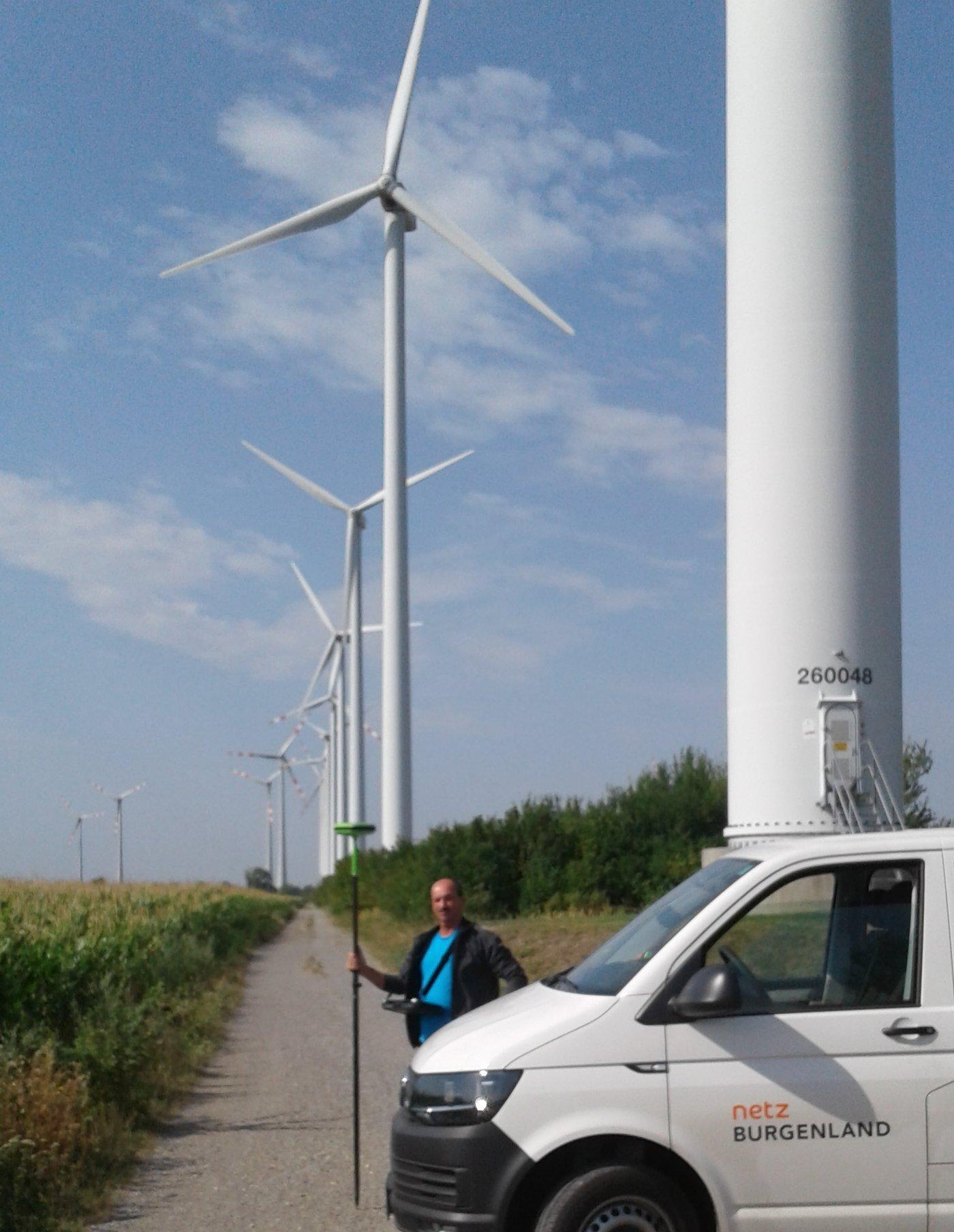 GNSS-Einsatz für die Windenergie