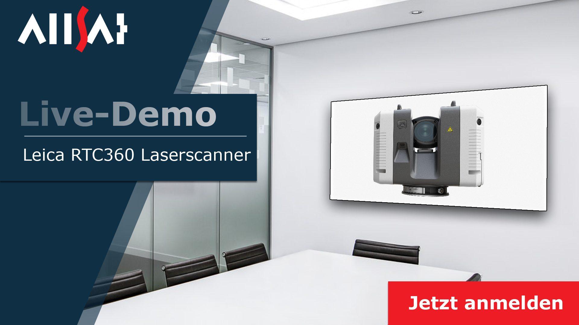 Live-Demo Leica RTC360  jetzt auch Online