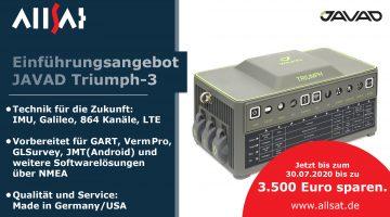 JAVAD Triumph-3 GNSS Einführungsangebot