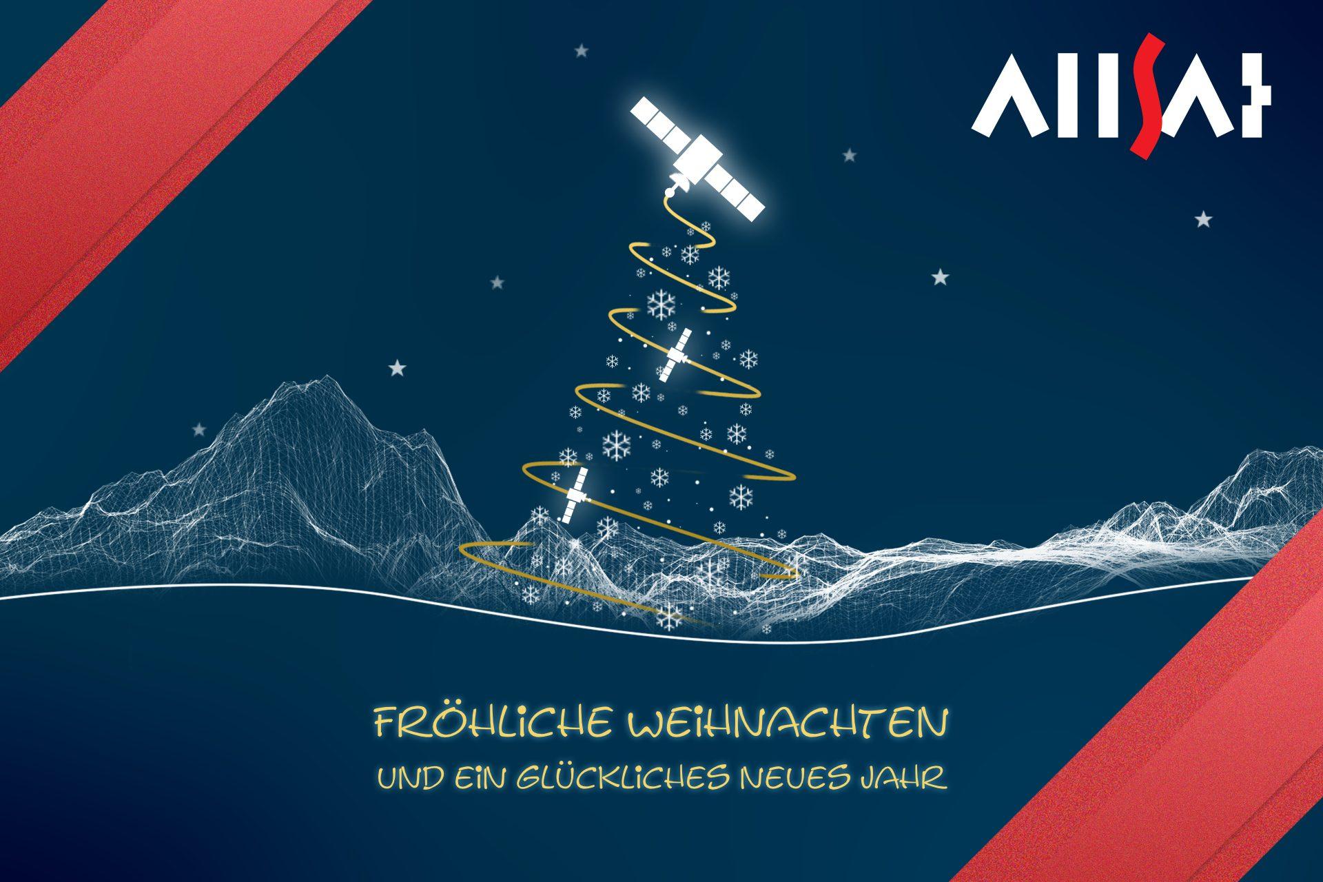 Die GNSSspezialisten der ALLSAT wünschen ein frohes Weihnachtsfest.