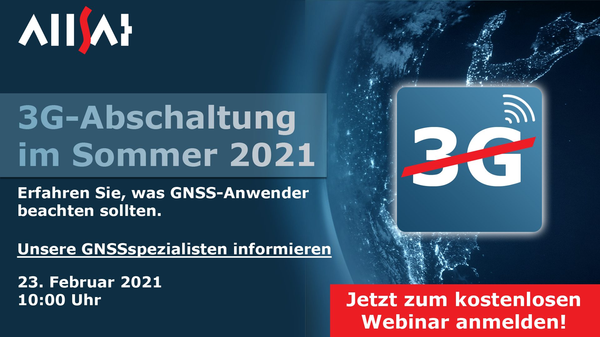 ALLSAT Veranstaltungen: Webinar 3-G Abschaltung