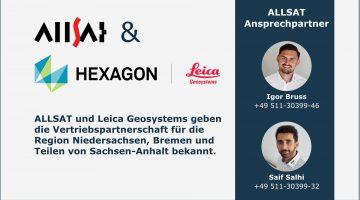 Vertriebspartnerschaft ALLSAT und Leica Geosystems