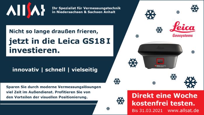 Leica GS18 I mit ALLSAT testen