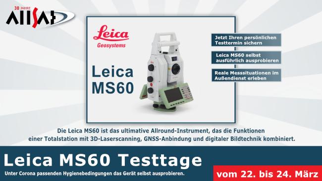 ALLSAT Testtage Leica MS60 im ALLSAT testen