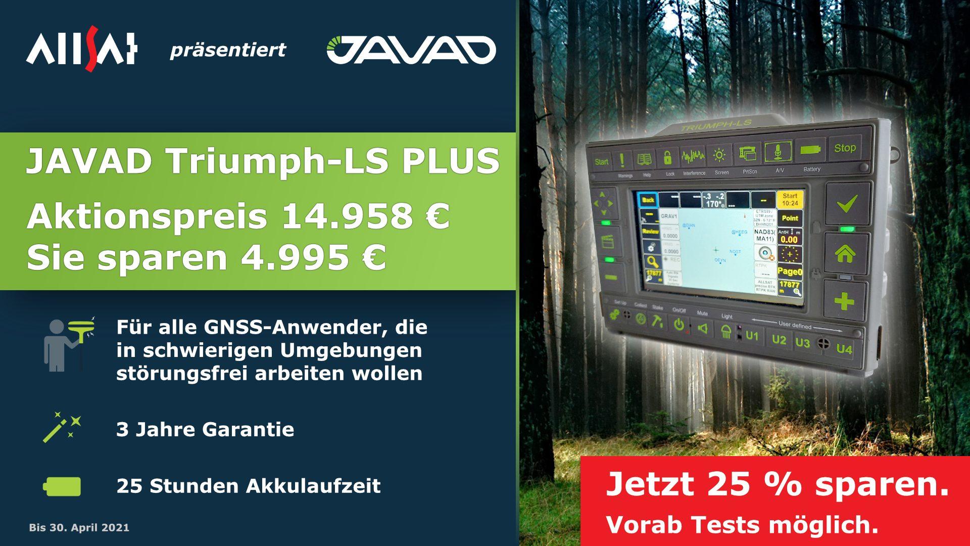 GNSS-Frühlings-Spezial  auch beim JAVAD Triumph-LS Plus