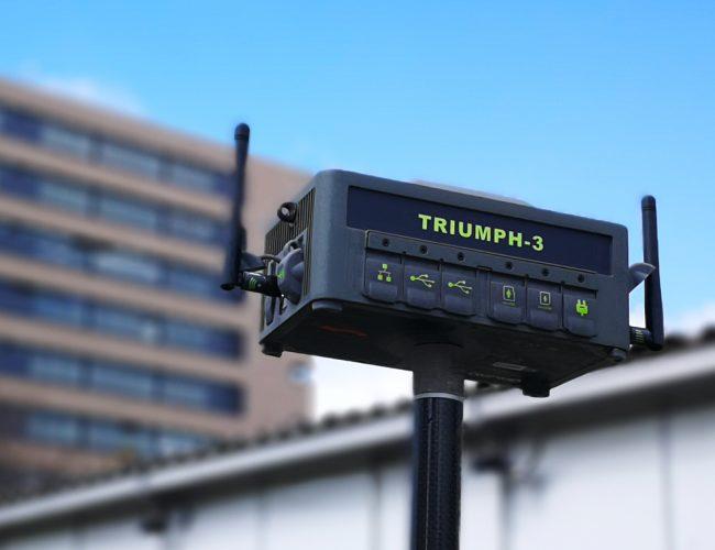 JAVAD Triumph-3 ermöglicht bei schlechter Netzabedeckung auch die Montage von Antennen mit höhren Antennengewinn.
