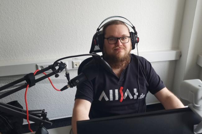 Die Intergeo fand parallel auch digital statt und wurde durch Alexander Raebsch der ALLSAT betreut.